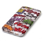 Graffiti Pattern TPU Back Case Cover for IPHONE 7 - White + Red