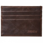 JIN BAO LAI Men's Fashionable PU Cards Holder Cash Clip Wallet -Coffee