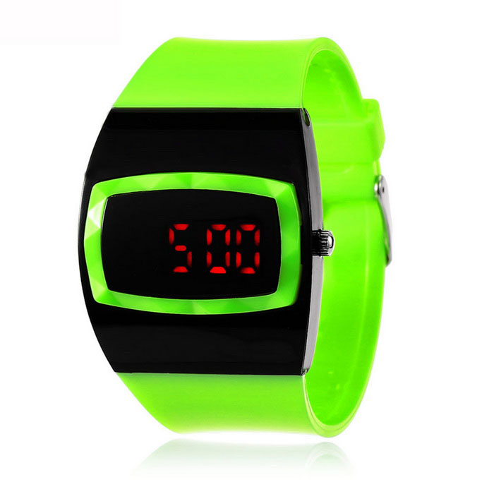 MAIKOU MK006 LED relógio digital de w / display data - verde fluorescente