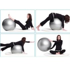 Thickening Explosion-Proof Fitness Ball Inflatable Yoga Ball - Silver