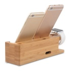 4-Slot Watch / Phone / Pad Holder for APPLE Devices - Brown