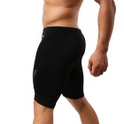 YUYANG Men's Swimming Trunks Exercising Shorts for Fitness - Black(XL)