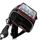 ROSWHEEL Tablet PC Bicycle Front Packbag Bicycle Handlebar Bag - Black