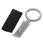 FURA Stainless Steel Flat & Serrated Blades Knife w/ Pouch - Silver