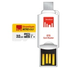 Strontium Nitro SRN32GTFU1T 32GB MicroSD / TF with OTG Card Reader