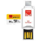Strontium Nitro SRN64GTFU1T 64GB  MicroSD / TF with OTG Card Reader