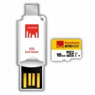 Strontium Nitro433x SRN16GTFU1T 16GB MicroSD Card With OTG Card Reader