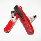 GUB 061VC Replaceable V Brake Blocks - Black + Red (2PCS)