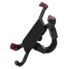 Motorcycle Bicycle Phone Holder Stand Support - Black + Dark Pink
