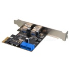 Ultra High Speed Dual USB Bus PCI Express 3.0 SATA Connector - Black