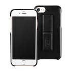 Lenuo Protective PC + PU Back Case w /Stand for IPHONE 7 - Black