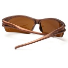 Men's UV400 Protection Explosion-Proof Riding Sunglasses - Dark Brown
