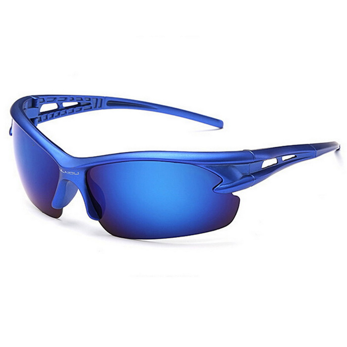 Men's UV400 Protection Explosion-Proof Riding Sunglasses - Blue