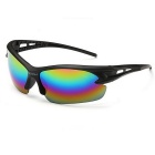 Men's UV400 Protection Explosion-Proof Riding Sunglasses - Black