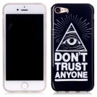 TPU Protective Back Cover Case for IPHONE 7 - Black + White