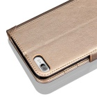 PU Leather + TPU Flip Open Case for IPHONE7 - Golden