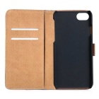 PU Leather + PC Side Flip Case with Card Slots for IPHONE 7 - Black