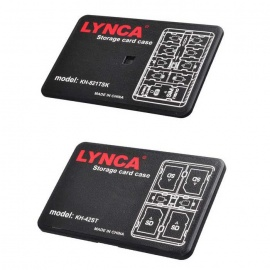 LYNCA 4-SD + 10-TF+ SIM + Nano SIM + Pin Card Storage Case (2PCS)