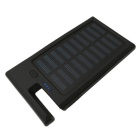 """12000mAh"" Solar Recharger Power Bank w/ Mobile Stand Function - Black"