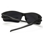 Men's UV400 Protection Explosion-Proof Riding Sunglasses - Black+Blue