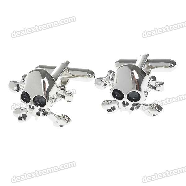 Skeleton Head Style Cuff Links/Buttons (Pair)