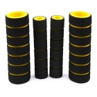 Motorcycle Sponge Handle Sleeve Anti-Skid Brake Grips - Yellow (Pair)