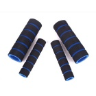 Motorcycle Sponge Handle Sleeve Anti-Skid Brake Grips - Blue (Pair)