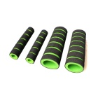 Motorcycle Sponge Handle Sleeve Anti-Skid Brake Grips - Green (Pair)