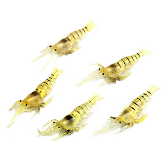 Delicate Simulation Soft Shrimp Lures (5PCS)