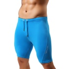 YUYANG Men's Swimming Trunks Exercising Shorts for Fitness - Blue (L)