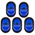 12V 30A Blue LED Light SPST Button Car Rocker Toggle Switches (5PCS)