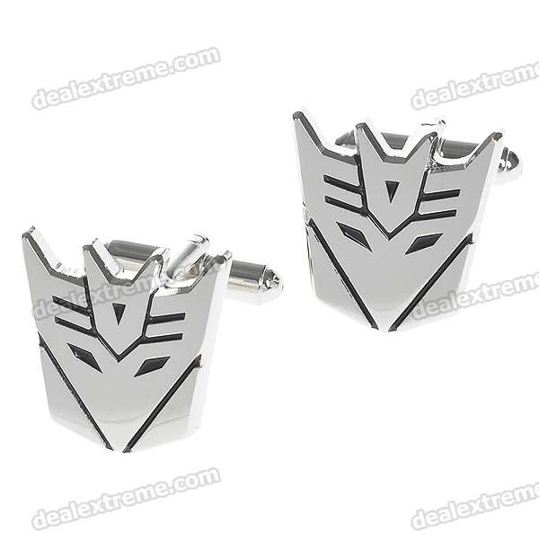 Decepticon Style Cuff Links/Buttons (Pair)