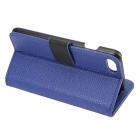 PU Full Body Flip Case w/ Stand for for IPHONE 7 - Blue