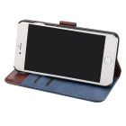 Premium PU Flip Case w/ Card Slots for IPHONE 7 - Blue