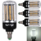 YouOKLight E12 15W 130-LED Cool White Corn Bulb (AC 85-265V / 4 PCS)