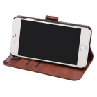 Premium PU Flip Case w/ Card Slots for IPHONE 7 - Brown