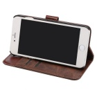 Premium PU Flip Case w/ Card Slots for IPHONE 7 - Coffee