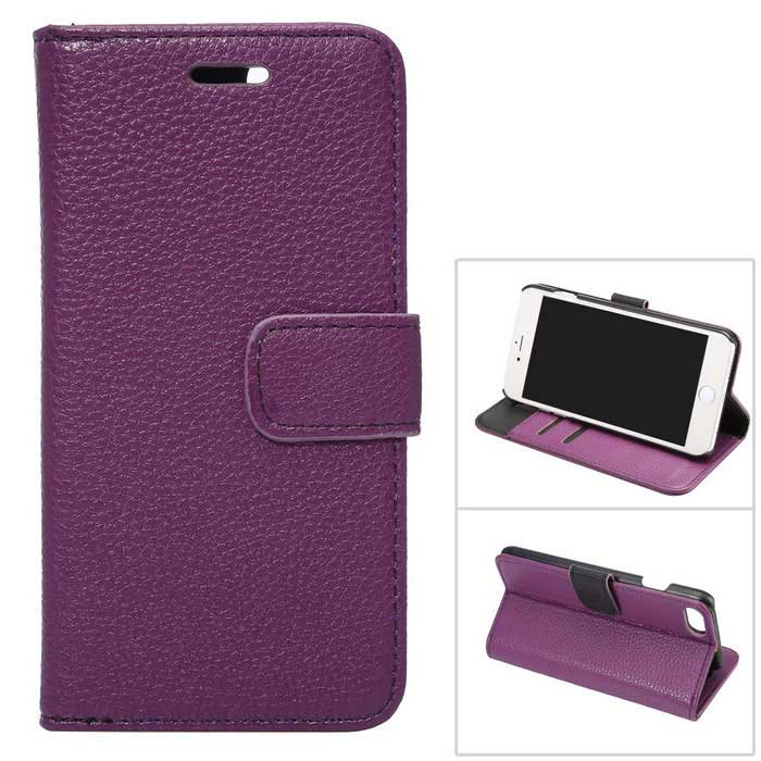 PU Full Flip Body Case w/ Stand for for IPHONE 7 - Purple