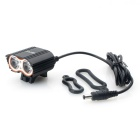 ZHISHUNJIA 4.2V-8.4V XML T6 LED 1600lm 4-Mode White Bike Light - Black
