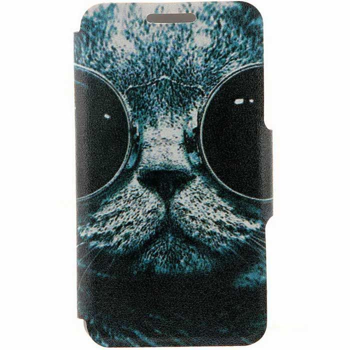SZKINSTON Sunglass Cat PU Leather Case for IPHONE 7 Plus / 8 Plus