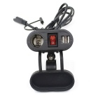 CS-261A1 Motorcycle Cigarette Lighter Dual USB Mobile Phone Charger