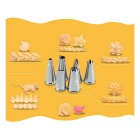 Stainless Steel  6-Piece Cake Decorating Set - Bright Silvery Grey