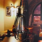 HESSION Industrial Opening/Closing Pendant Light Wire Cage Lamp Guard