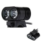 B1 2LED Water Resistant 3-Mode White LED Bike Light  for Bicycle
