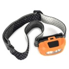 Ultrafire 3W 3-Mode Mini LED Flashlight Headlamp - Orange (3*AAA)