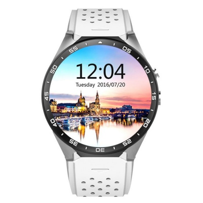 KW88 Android 5.1 OS 3G Smart Watch Phone w/ 512MB RAM, 4GB ROM - White