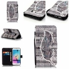 Tribal Feathers 3D Pattern Protective Case for Samsung Galaxy S6 Edge