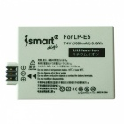 ismartdigi LPE5 Battery + Micro USB Camera Battery Charger - Black