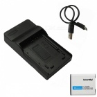 ismartdigi LI90B Battery + Micro USB Camera Battery Charger - Black