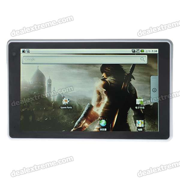 "7"" Touch Screen TFT LCD Google Android 2.1 Tablet PC w/ WiFi/Camera/HDMI (Telechips 8902/720MHz)"